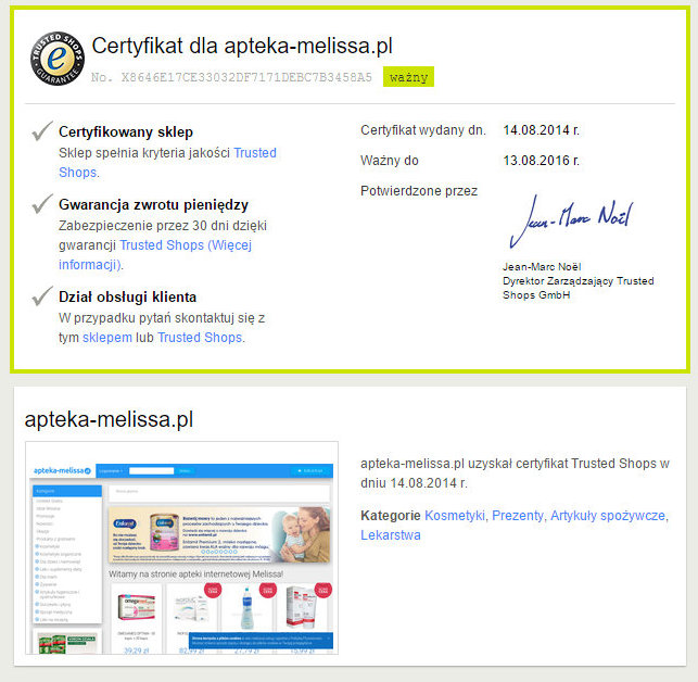 apteka certyfikat