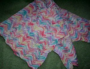 Multicolour Handmade Blanket for Baby Boy or Girl