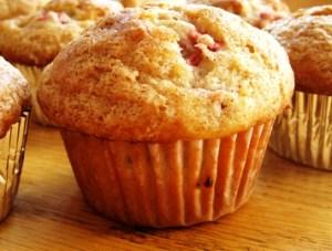 Sugared Homemade Rhubarb Muffins