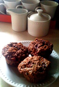 Homade Triple Berry Muffins