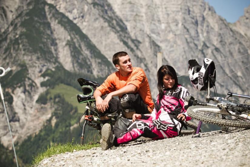 Satte 720 Kilometer Mountainbikewege und 480 Kilometer Talradwege liegen um mama thresl herum.