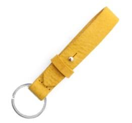 MamaBella AS0013 Cuoio chain sleutelhanger mineral yellow gemaakt van florentijns leder