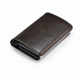 MamaBella AT0002 Kredietkaart houder in PU leder met clips om kaarten op te bergen alsook briefgeld