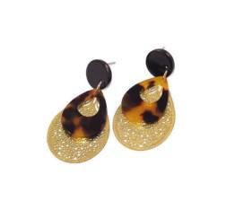 MamaBella OD0014 Golden Leopard Brown Oorbellen