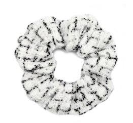 MamaBella AH0044 Witte Ruit Scrunchie