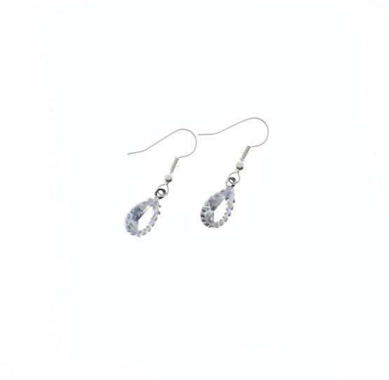 MamaBella OD0041 Kristal Zilveren Oorbellen