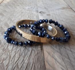MamaBella AD0033 Nachtblauwe Golden RVS Armbandenset