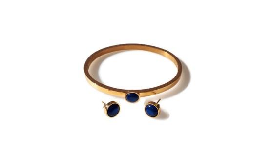 MamaBella AD0034 Armband en Oorbellenset Polaris Blauw