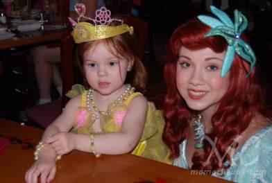 lily ariel princess dinner akershus epcot
