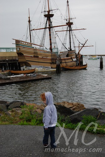 Plymouth Rock and Mayflower