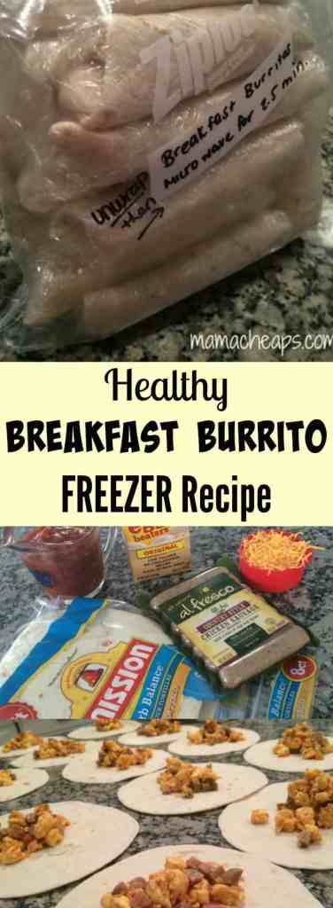 Healthy Breakfast Burrito FREEZER Recipe