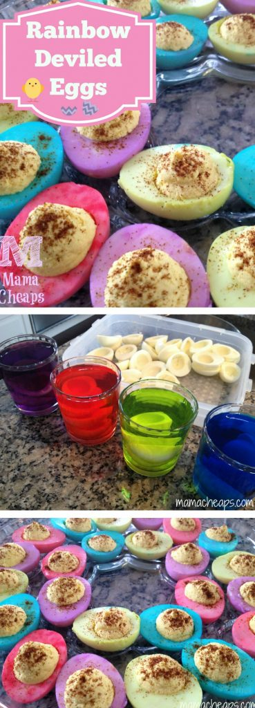 Rainbow Deviled Eggs for Easter