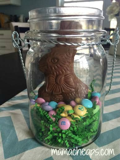 Easy easter candy centerpieces peeps m ms and chocolate