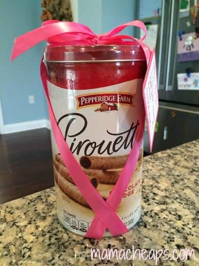 ballet teacher gift pirouette cookies