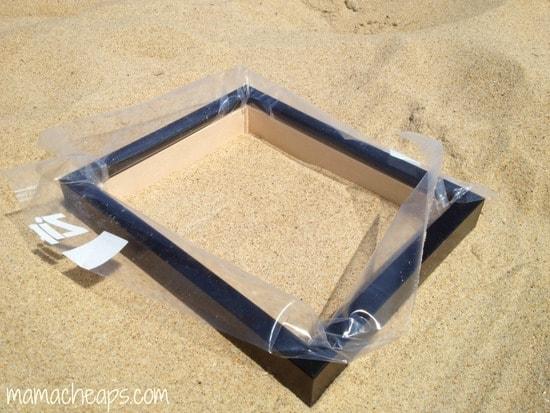 diy beach handprint footprint craft frame b
