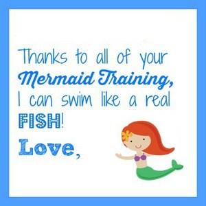 mermaid teacher gift tag
