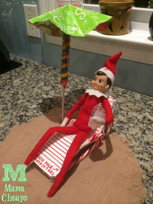 elf on the shelf beach