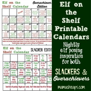 elf on the shelf calendars