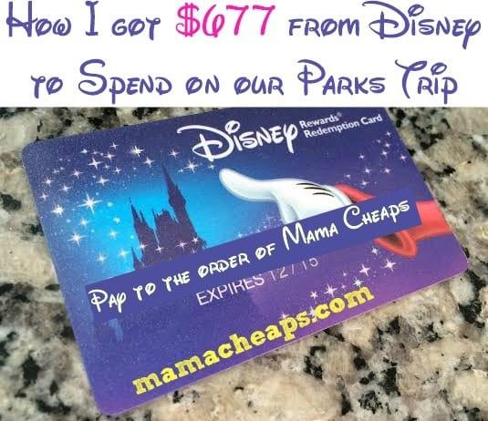 Disney Visa Gave Me a $677 Gift Card... Here's How! | Mama Cheaps
