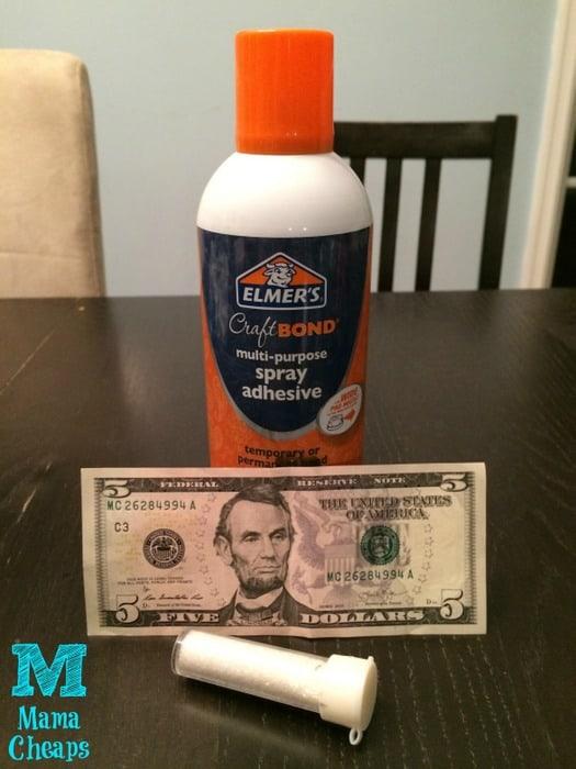 how to make glitter money