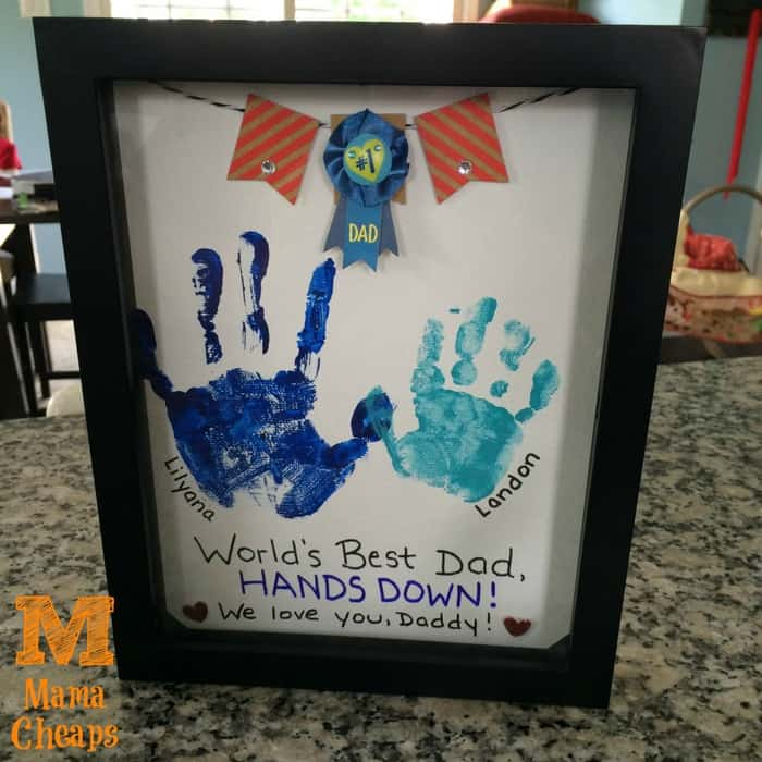 Hands down best dad father 39 s day handprint gift mama for Best gifts for fathers day