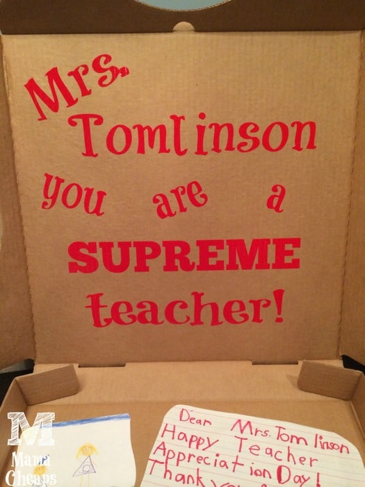 Pizza Box Teacher Appreciation Gift Dinner Amp A Movie