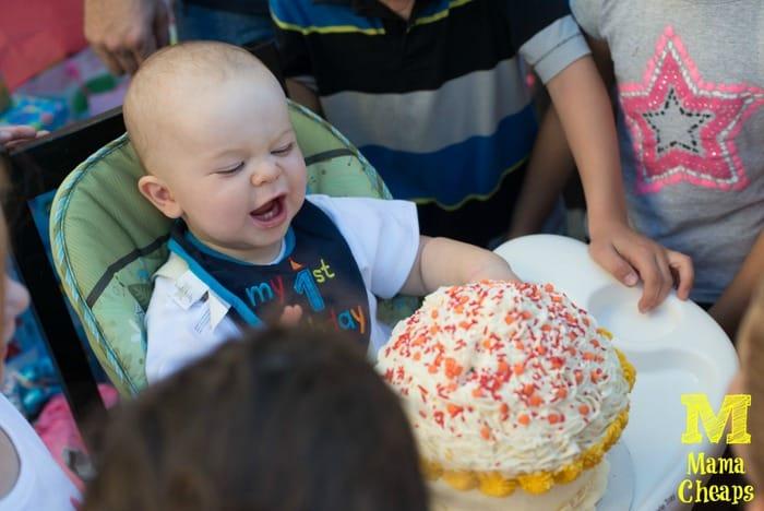 landon birthday cupcake smash cake