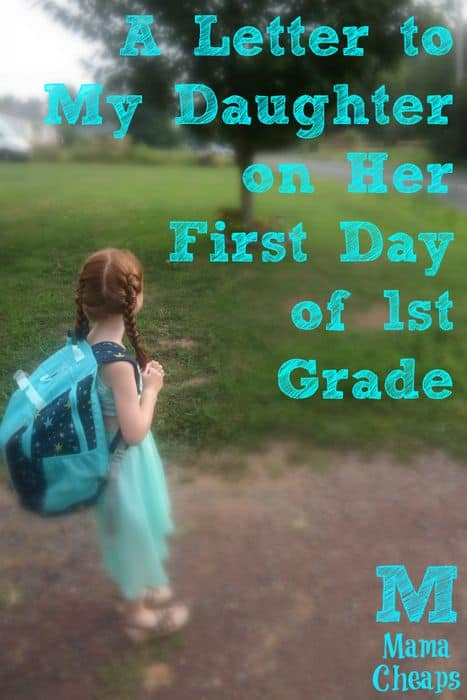 a letter to my daughter on her college graduation day a letter to my on day of 1st grade 20326