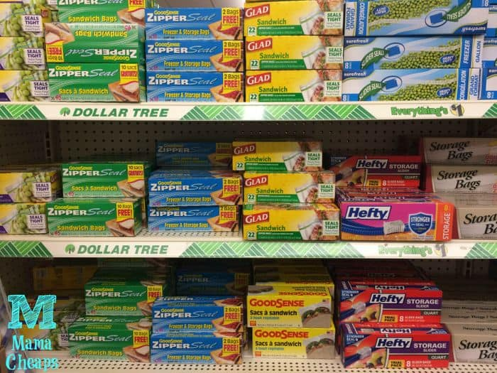 ziploc bags at dollar tree