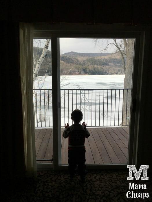 Landon Looking at Lake Morey