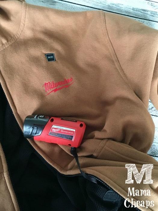 Milwaulkee Battery Heated Sweatshirt