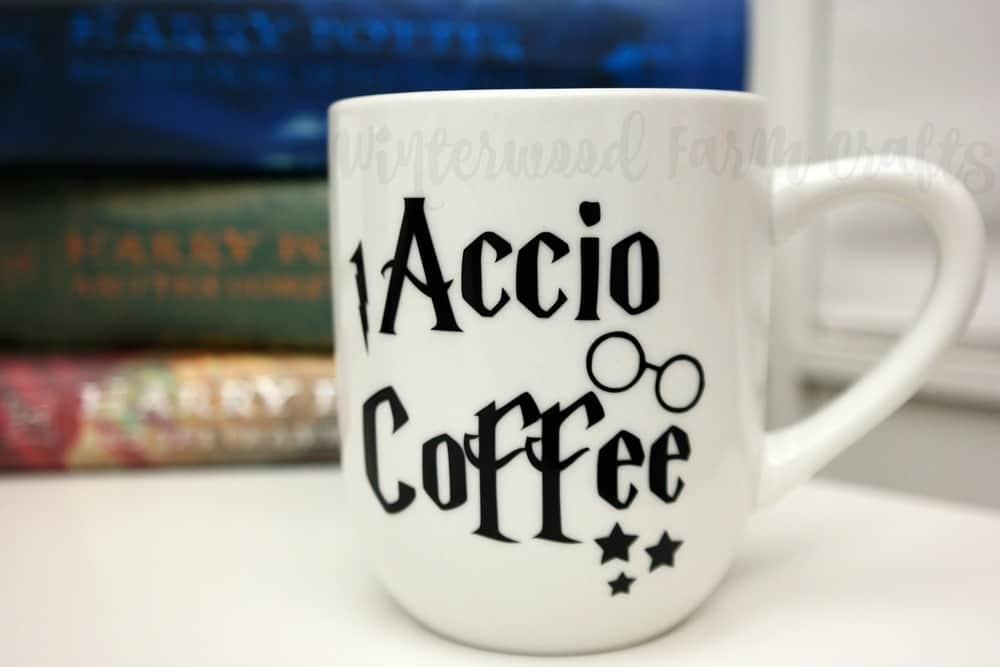 Harry Potter Accio Coffee Mug Craft Silhouette Tutorial