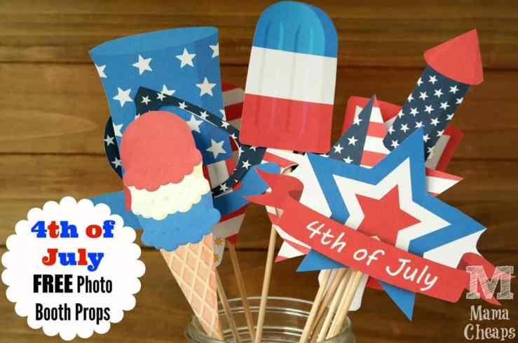4th of July Photo Booth Props