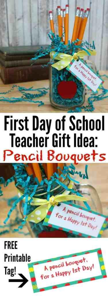 Pencil Bouquets Teacher Gift