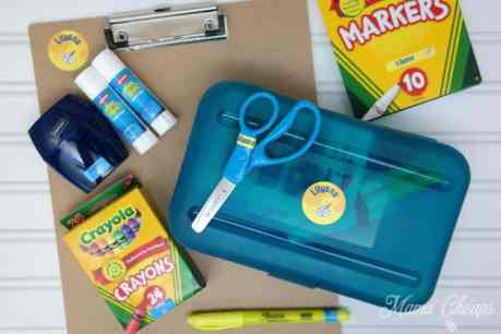 School Supplies with Labels