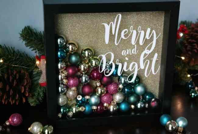 DIY Christmas Ornament Shadowbox