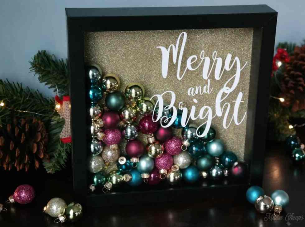 DIY Christmas Ornament Shadowbox Tutorial