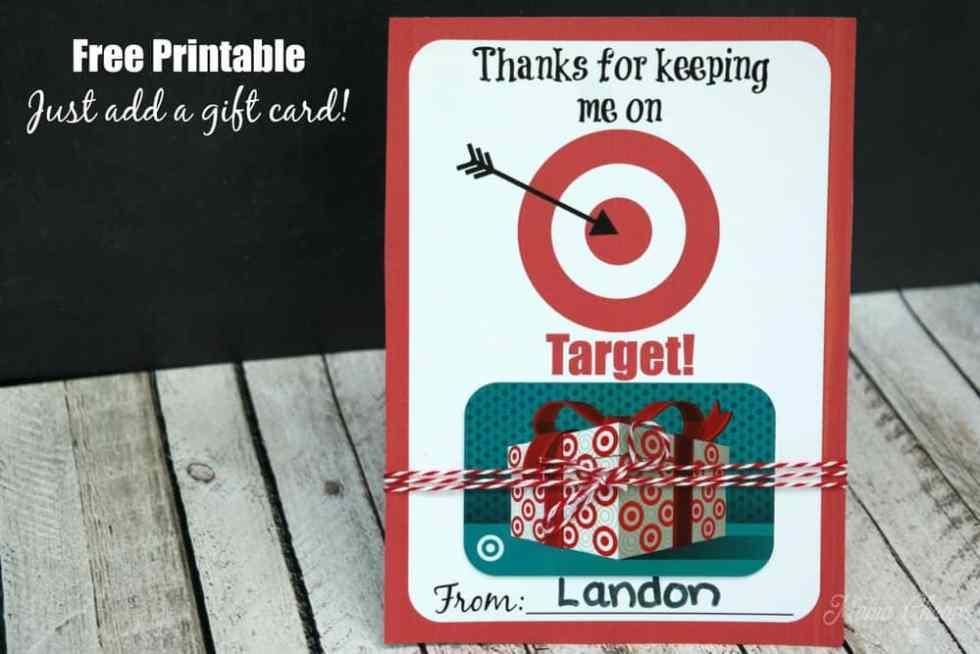 Target Gift Card Printable Card Holder
