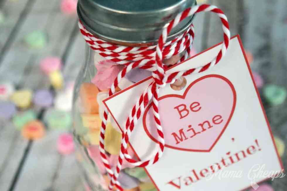 Conversation Hearts Milk Bottle Valentine