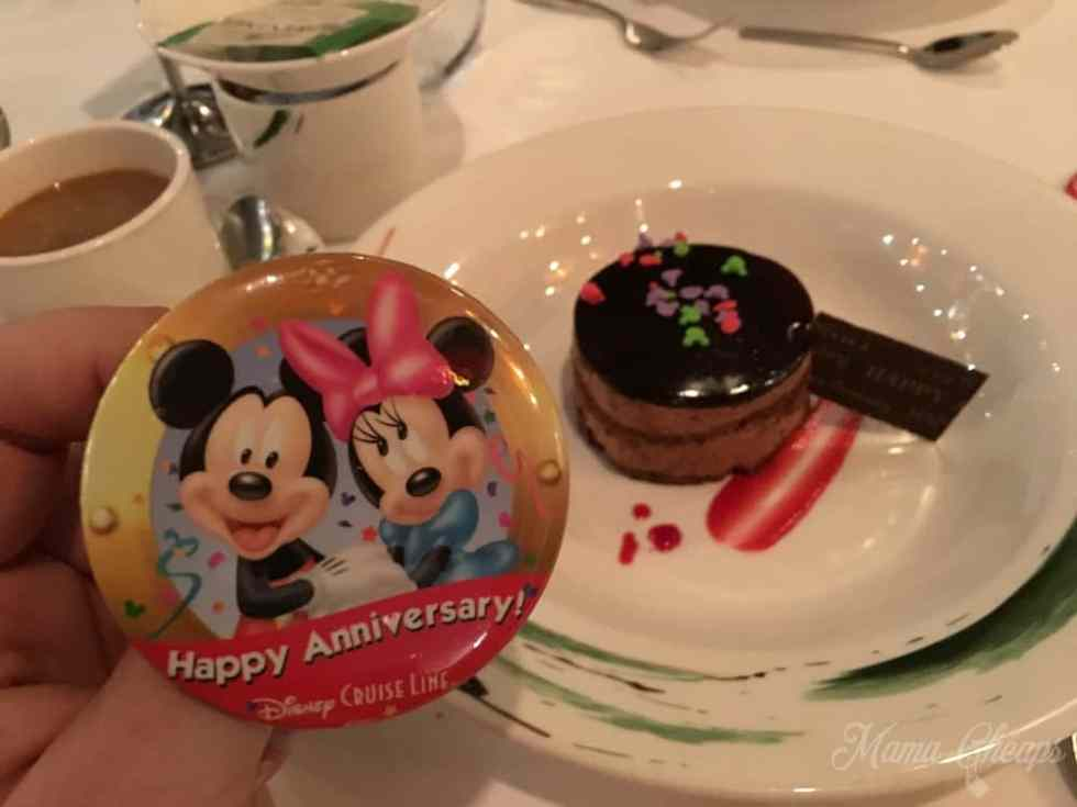 Disney Cruise Anniversary Dinner