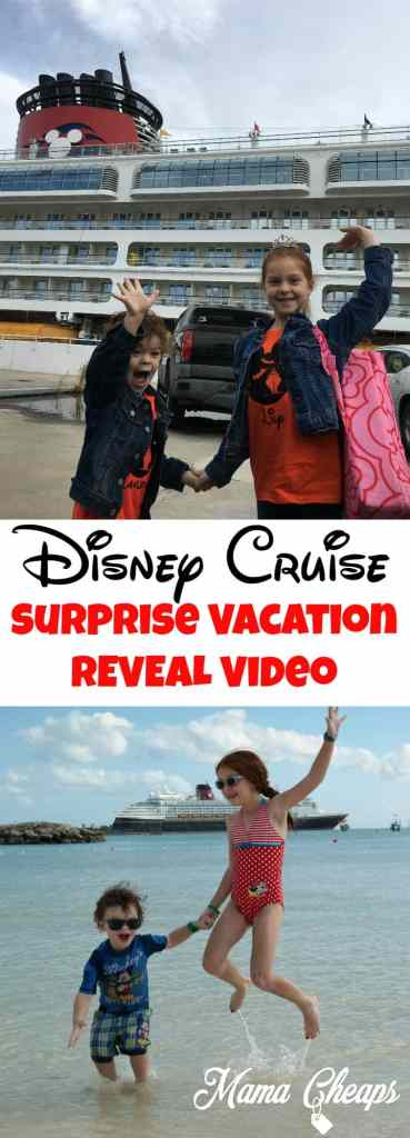 Disney Cruise Surprise Vacation Reveal Video