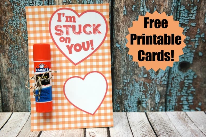 Im Stuck On You Glue Stick Valentine FREE Printable