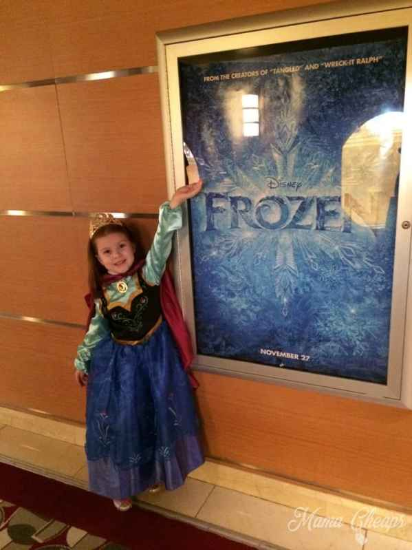 Lily as Princess Anna