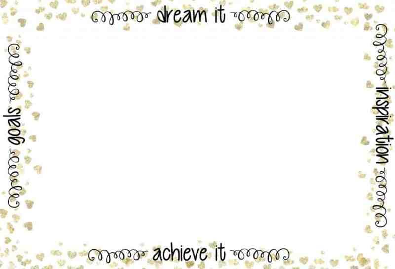 Printable Dream Board
