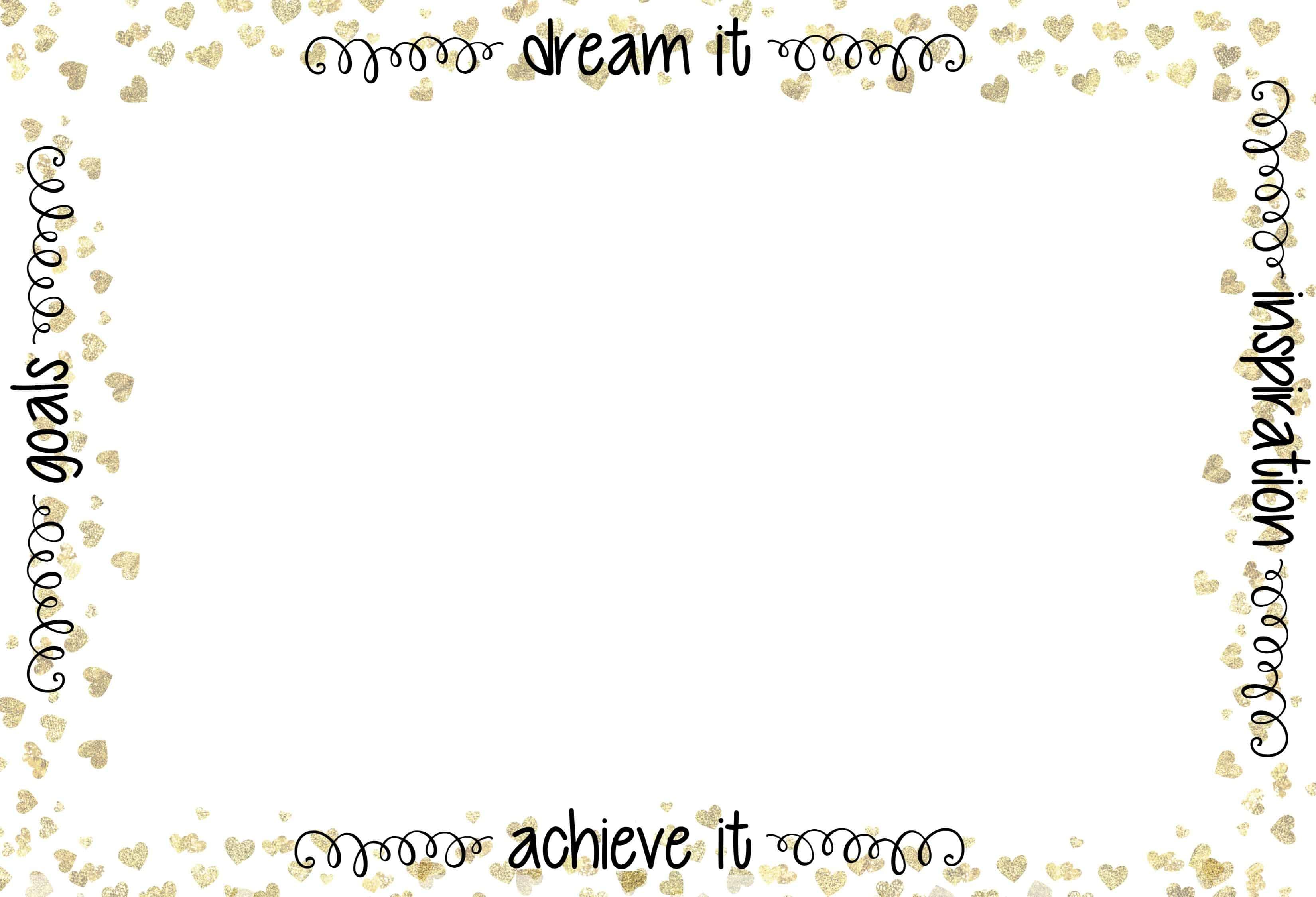 Free Printable Dream Board