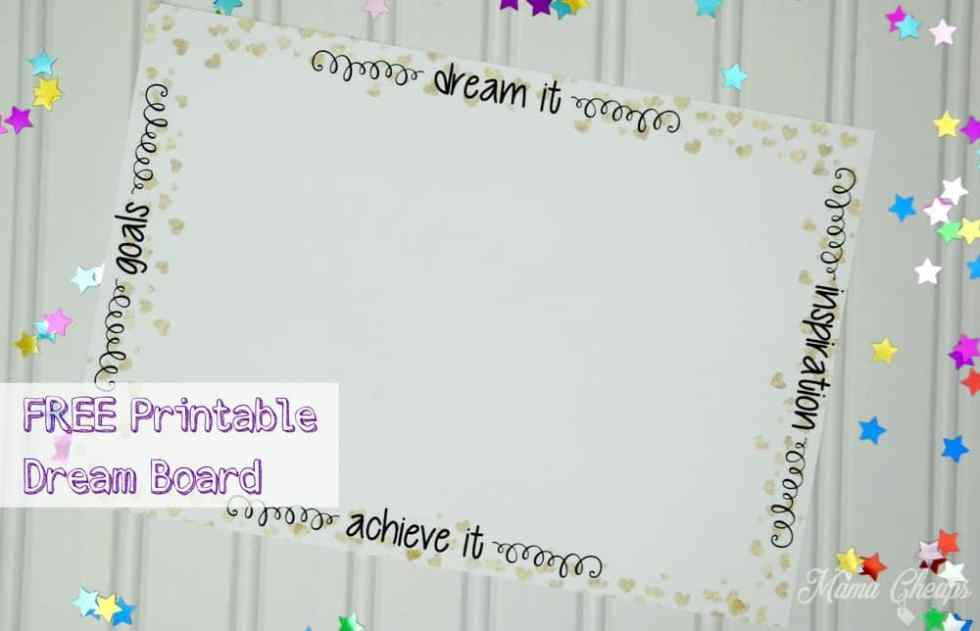 Printable Dream Vision Board Mama Cheaps