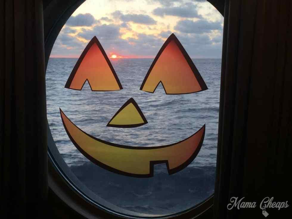 Disney Cruise Jack O Lantern Window