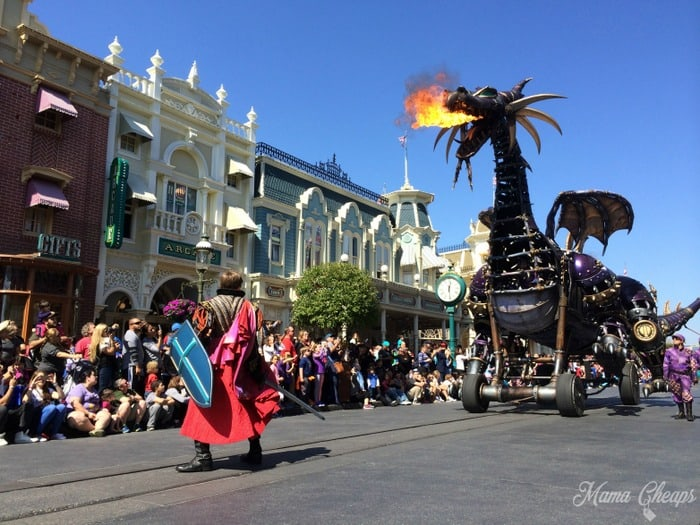 Disney Fire Breathing Dragon Parade