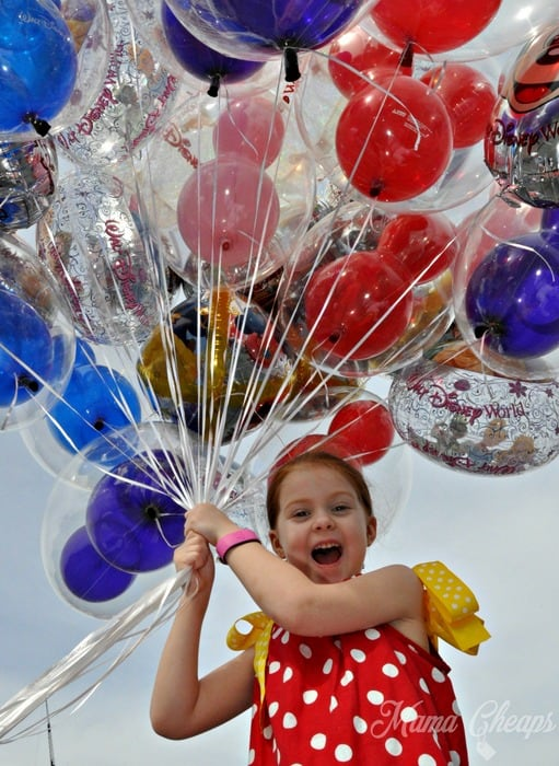 Lily with Balloons Magic Kingdom