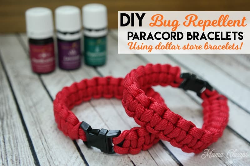 DIY Bug Repellent Paracord Bracelets